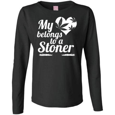 Heart Stoner Ladies Long Sleeve Cotton TShirt