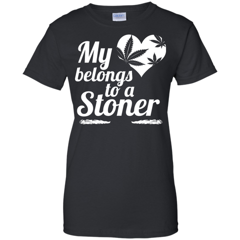 Heart Stoner Ladies Custom 100% Cotton T-Shirt