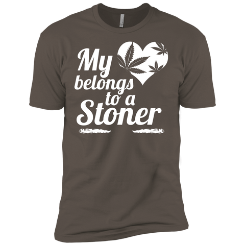 Heart Stoner Mens Premium Short Sleeve Tee