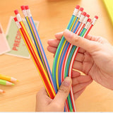 12pcs Magic Bendy Flexible Pencils with Eraser