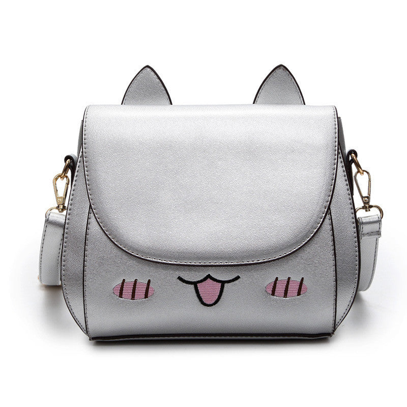 Cartoon Kawaii Cat Ear PU Leather Shoulder Bag
