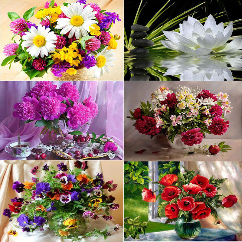 Flowers 5D DIY Mosaic Pixel Diamond Painting