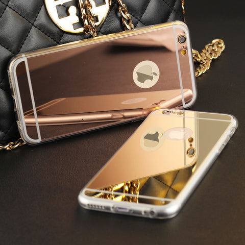 iPhone Electroplating Mirror Phone Case for iPhone 4 4S 5 5S 6S 6 7 Plus