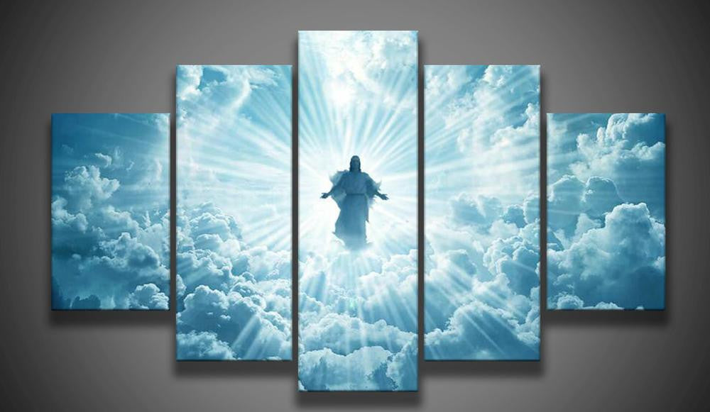 The Presence Of Jesus 5 Piece Canvas Print Wall Art