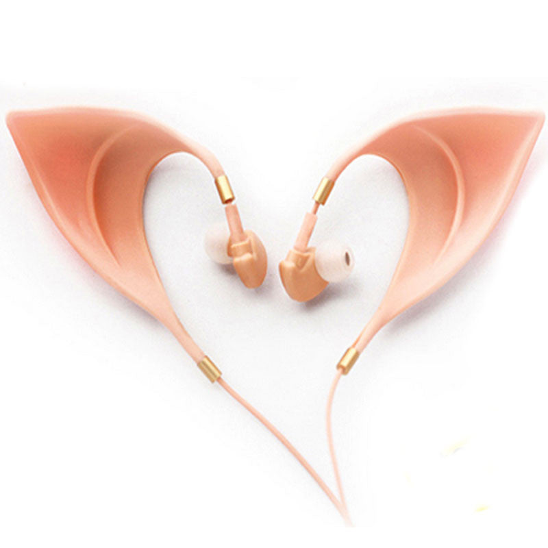 Elf Ears 3.5mm Earbuds with Microphone for iPhone Android PC