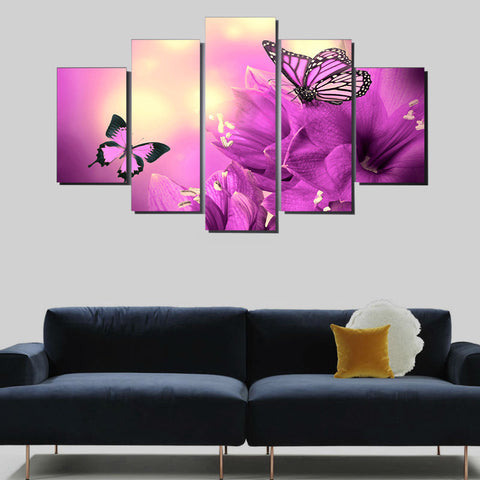 Purple Butterfly Orchid 5 Piece Canvas Print