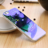 Modern Blue Ray Light Clear Phone Case For iPhone