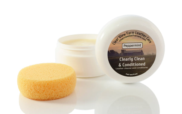 Clearly Clean & Conditioned Leather cleaner and conditioner - Clear View Farm Leather Care