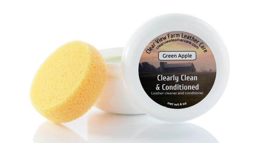 Clearly Clean & Conditioned leather cleaner and conditioner