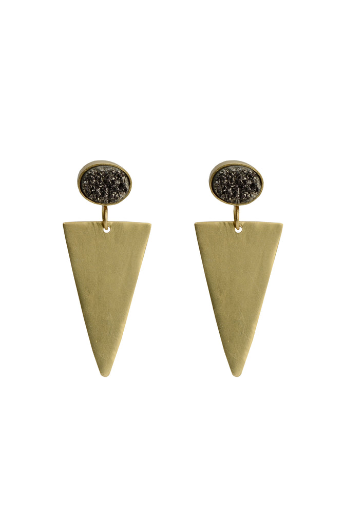 Mars Pyrite Earrings