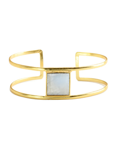Renaissance Rectangle Cuff | Ruby Quartz