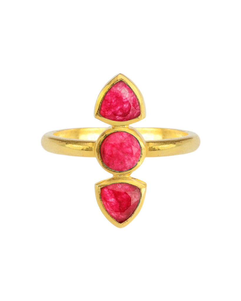 Dagger Ring | Ruby Quartz