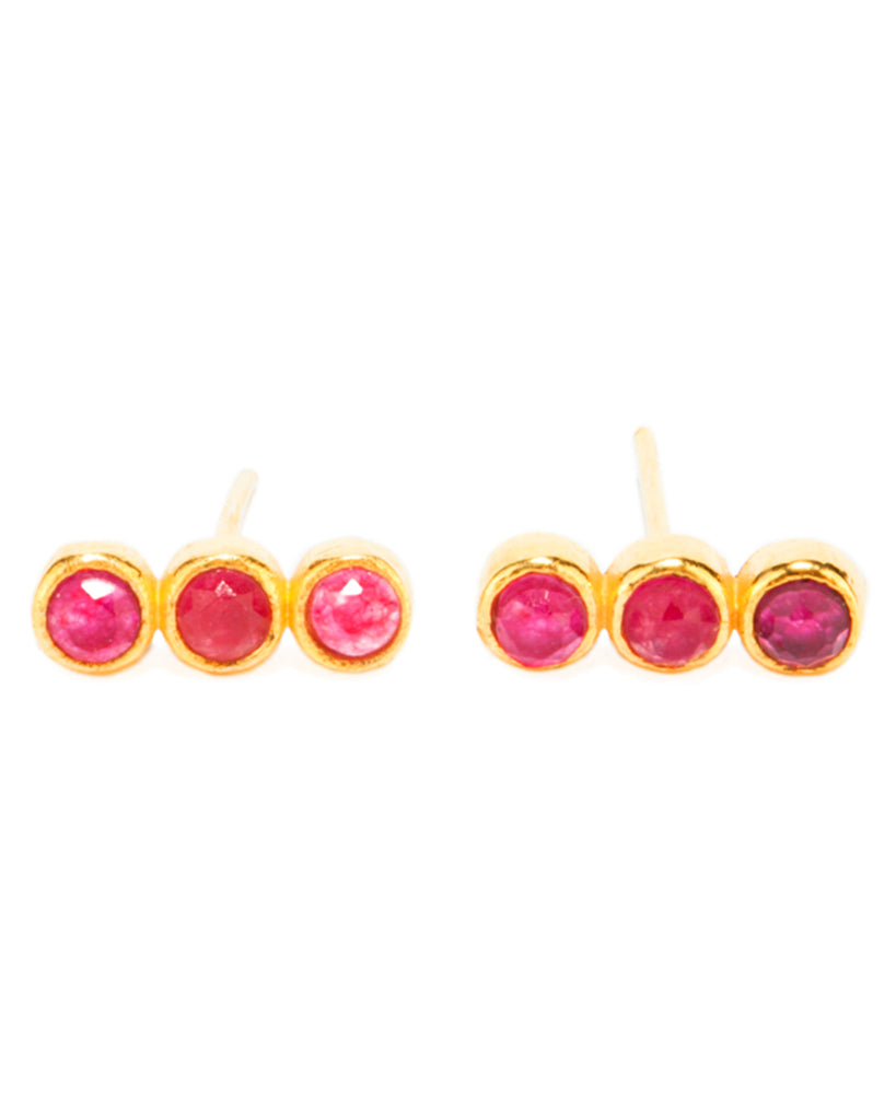 Creedence Studs | Ruby Quartz