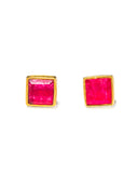 Sunshine Studs | Ruby Quartz