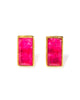 River Studs | Ruby Quartz