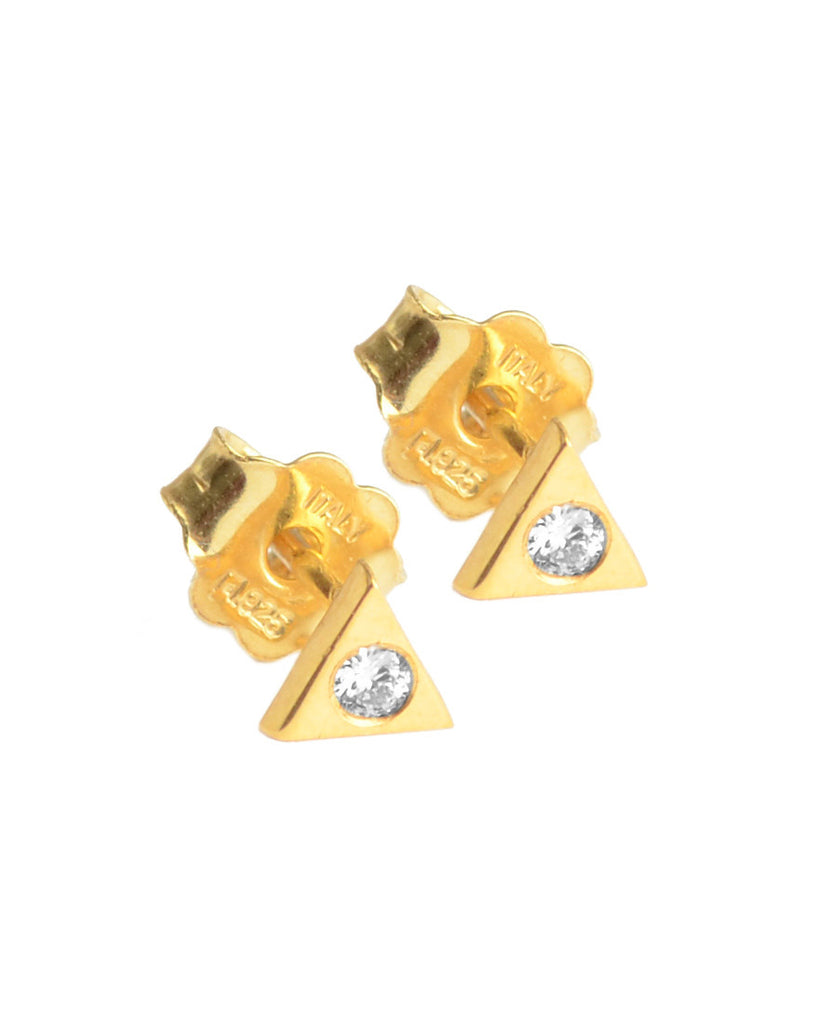 You're So Fine Pyramid Studs | Gold