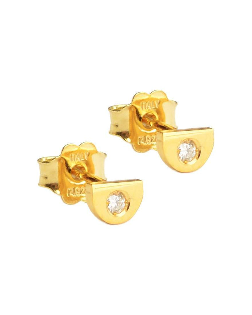 You're So Fine Half Moon Studs | Gold