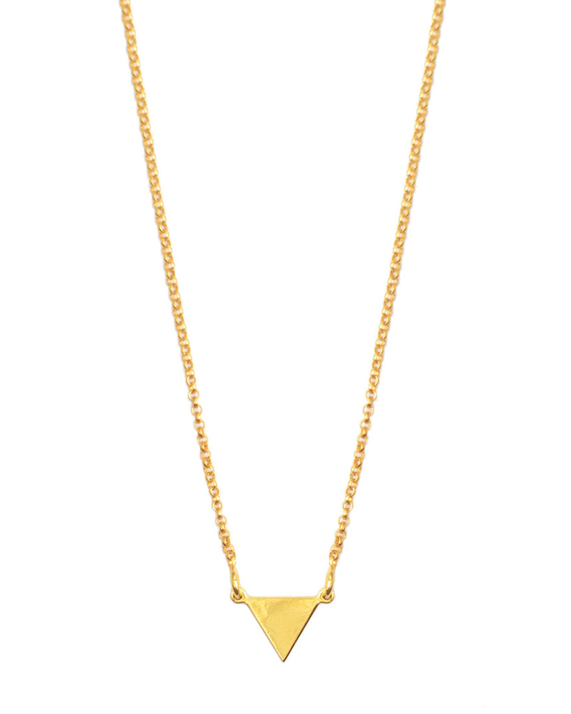 It's Simple Pyramid Necklace | Gold