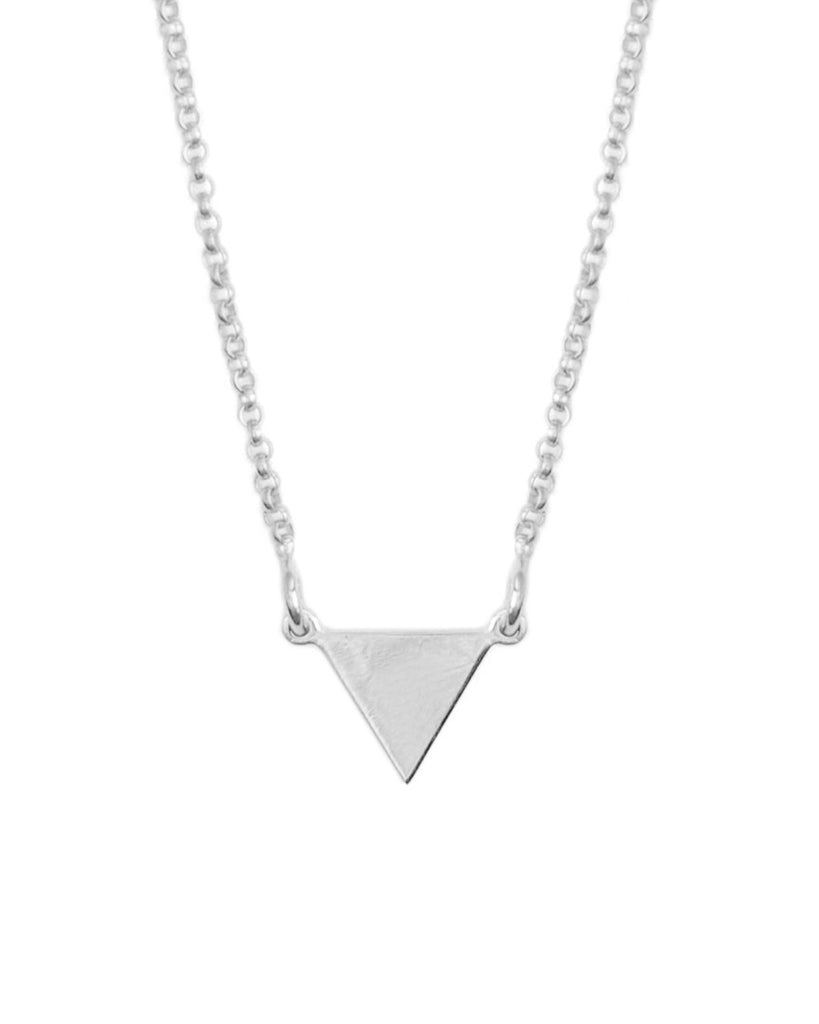 It's Simple Pyramid Necklace | Silver