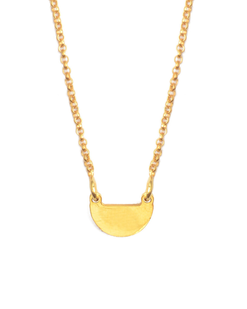 It's Simple Half Moon Necklace | Gold