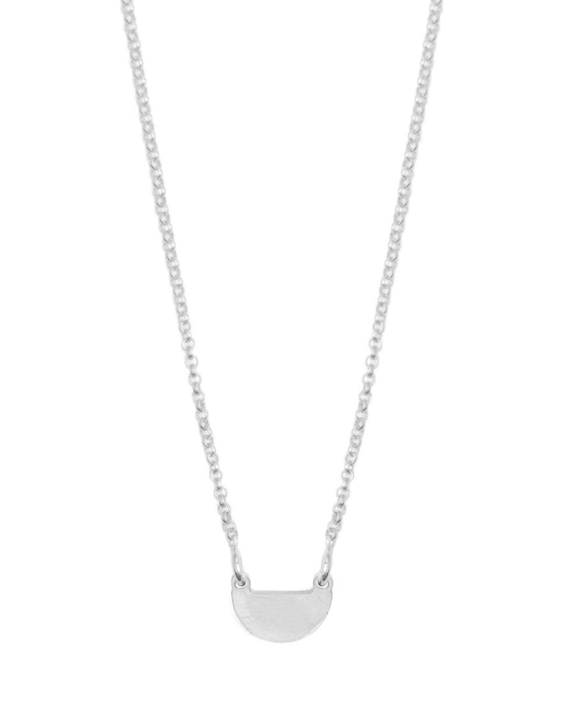It's Simple Half Moon Necklace