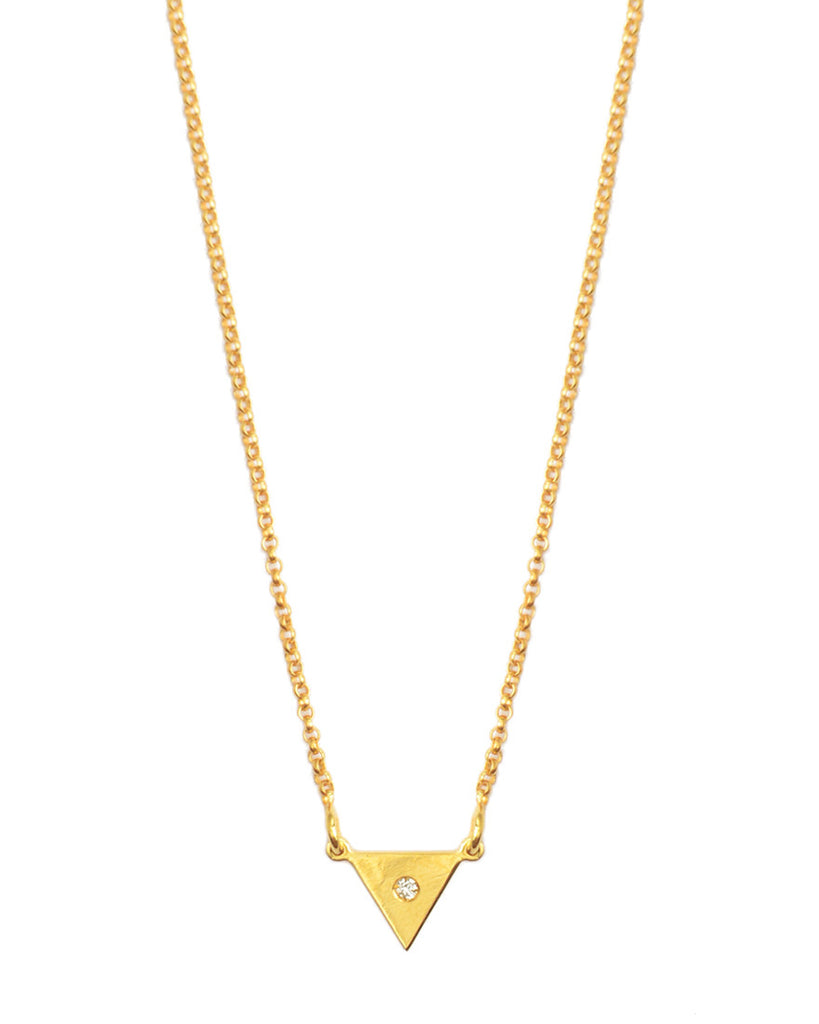You're So Fine Pyramid Necklace | Gold