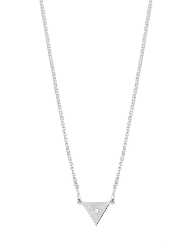 You're So Fine Pyramid Necklace | Silver