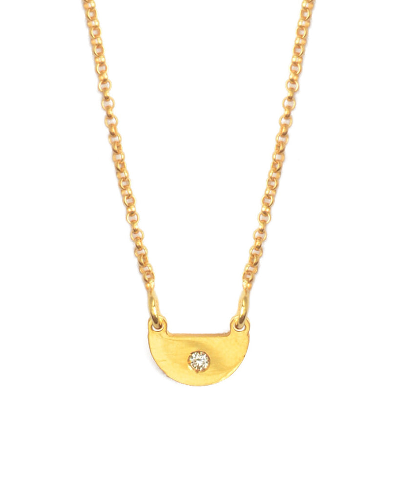 You're So Fine Half Moon Necklace | Gold