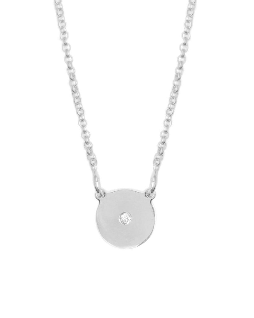 You're So Fine Full Moon Necklace | Silver