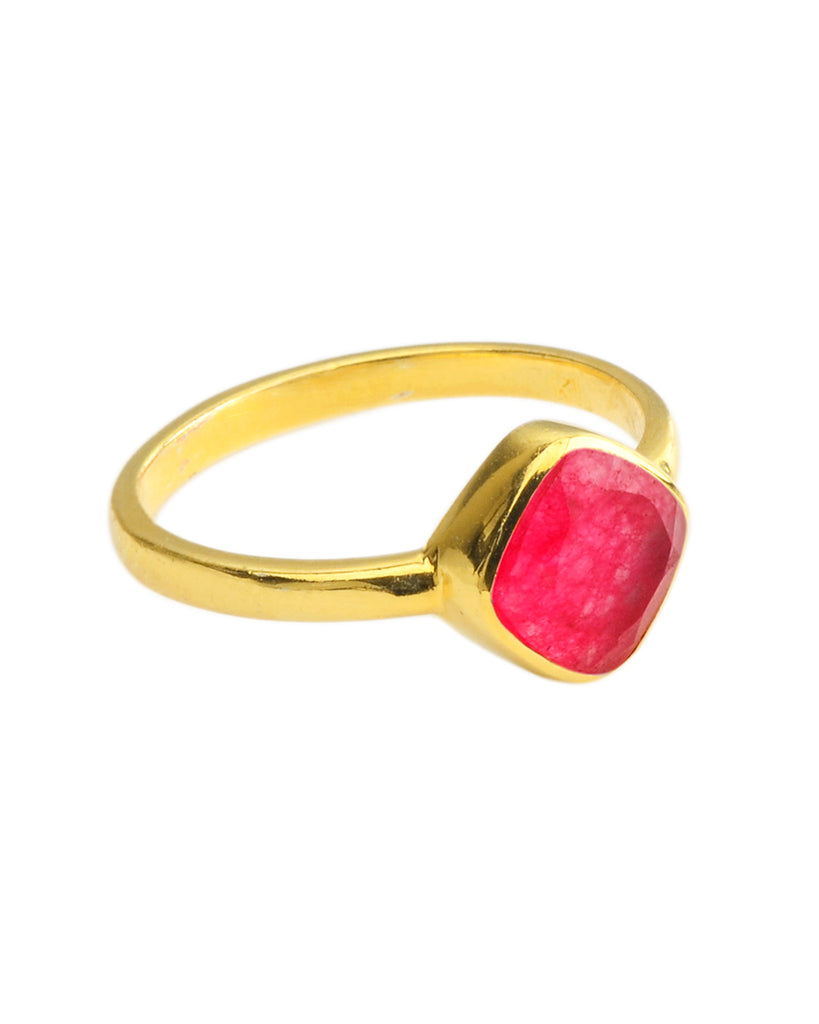 Floating Ring | Ruby Quartz