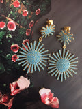 Starburst Statement Earrings | Turquoise