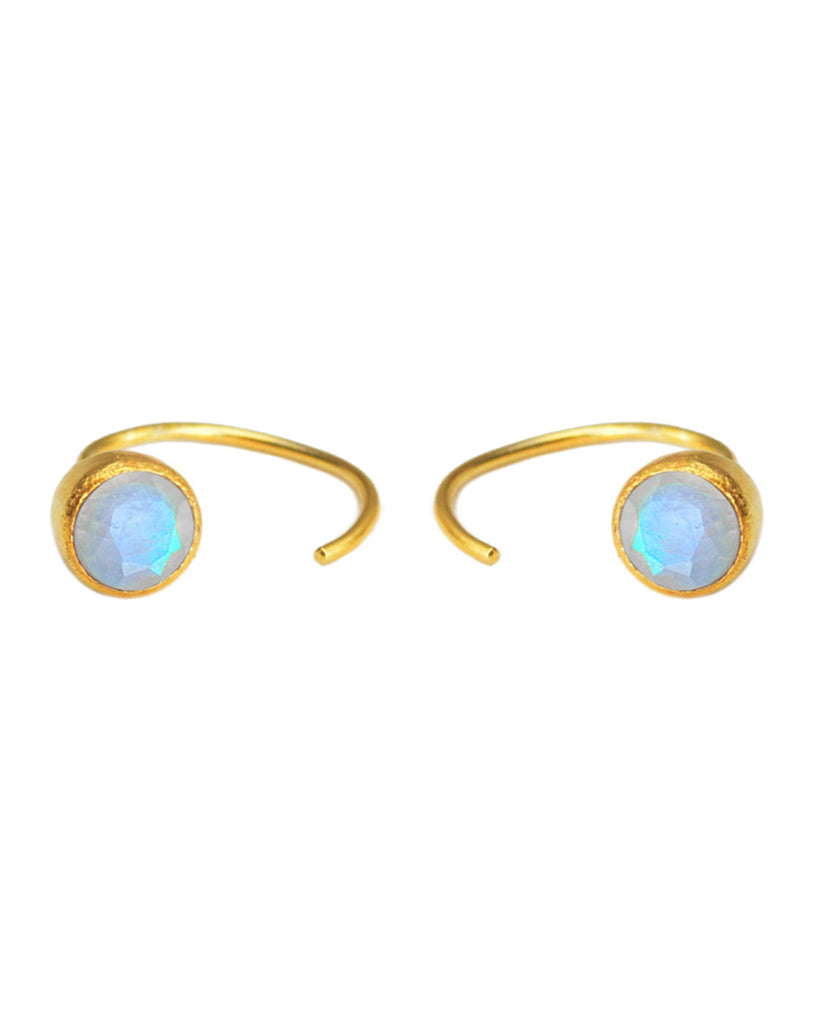 Hangin' Round Hoops | Brilliant Cut | Moonstone