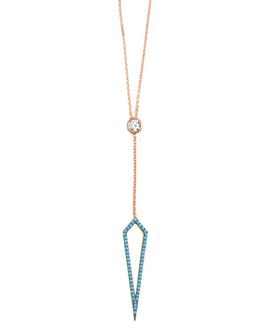 Hello Necklace | Turquoise