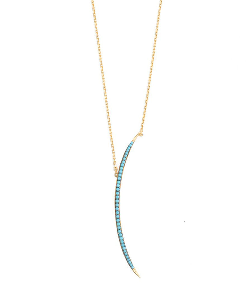 Lean In Crescent Necklace