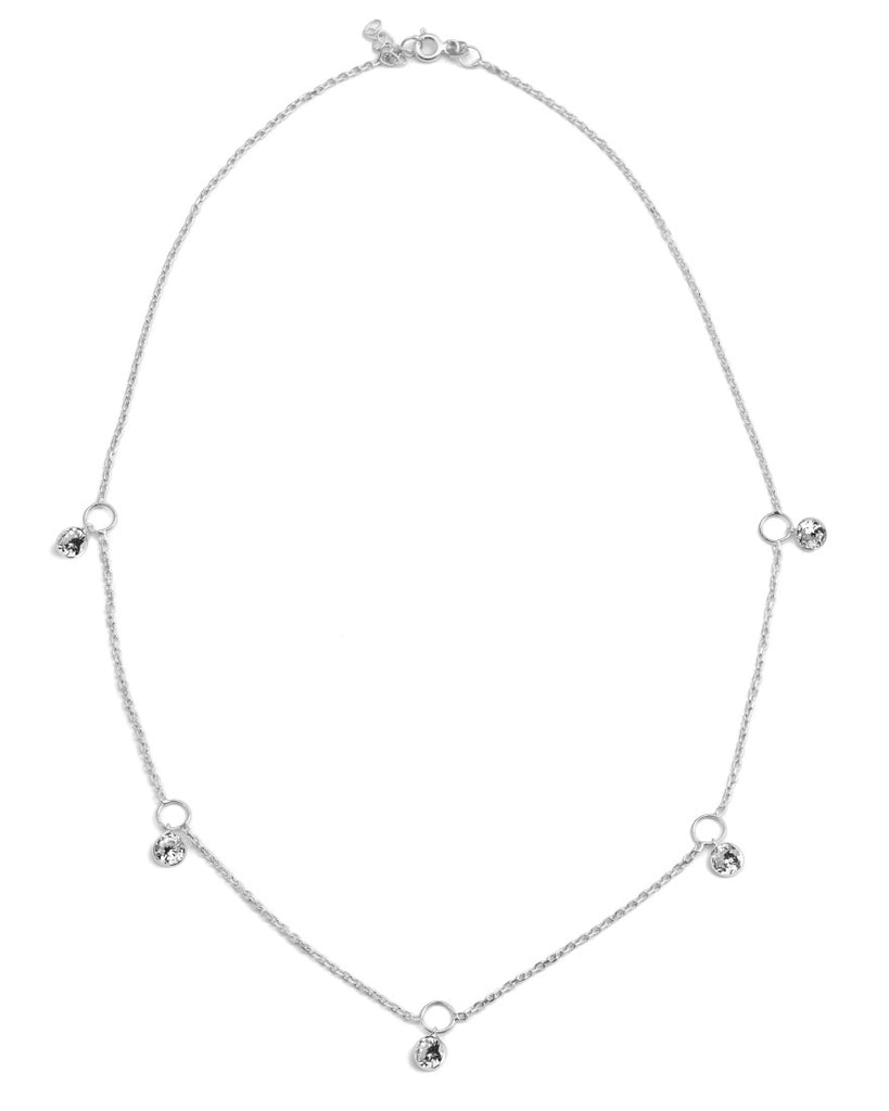 Hey Hey Drop Necklace | Crystal