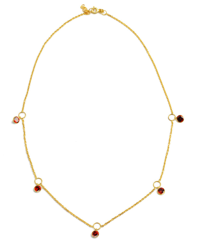 Hey Hey Drop Necklace | Red