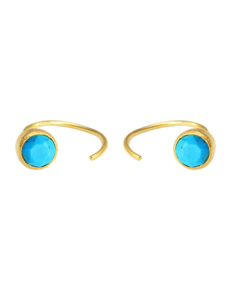 Hangin' Round Hoops | Brilliant Cut | Turquoise