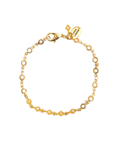 Chain Link Thin Ring | Gold