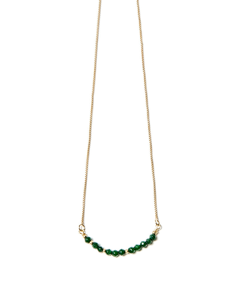 Cosmos Necklace | Green Agate