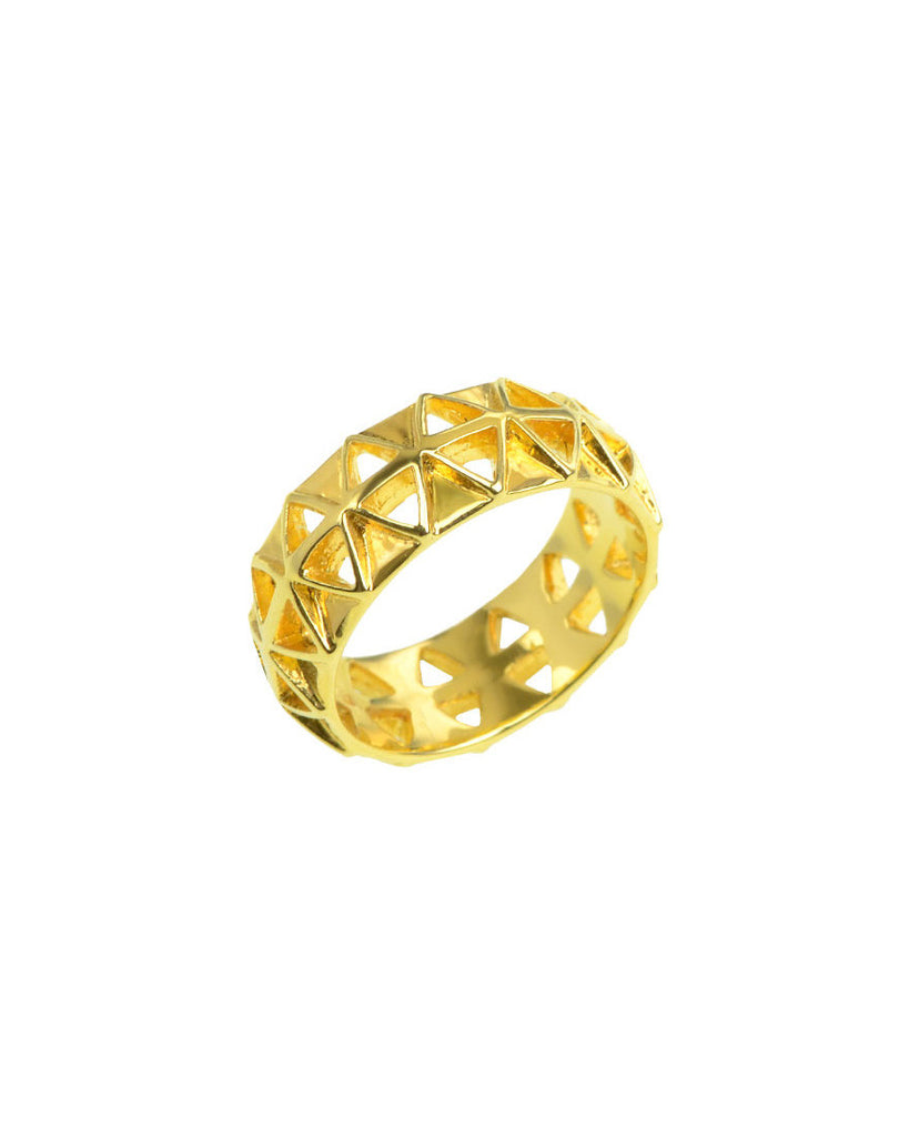 Diamond Cut Out Ring | Gold