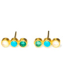 Creedence Studs | Green Mix