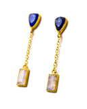 River Earrings | Lapis + Moonstone