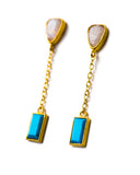 River Earrings | Moonstone + Turquoise