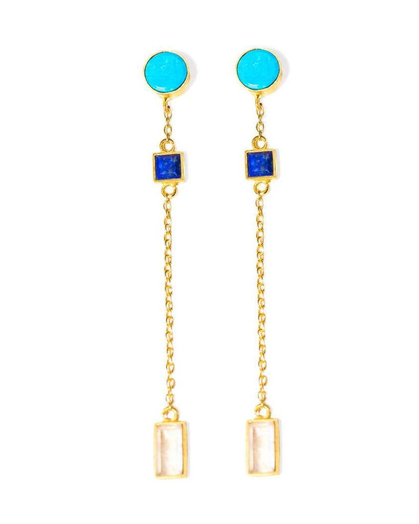 Rollin' Earrings | Turquoise Multi
