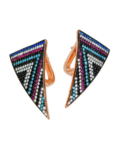 Serious Statement Earrings | Black