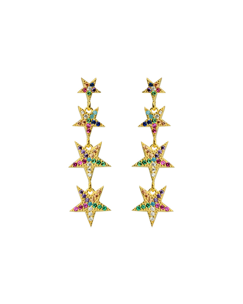 Falling Star Earrings | Rainbow