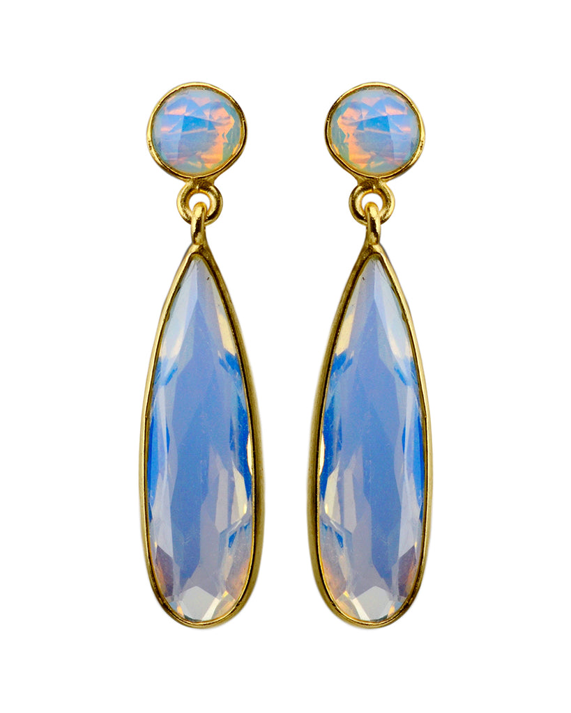 Iris Earrings | Opalite