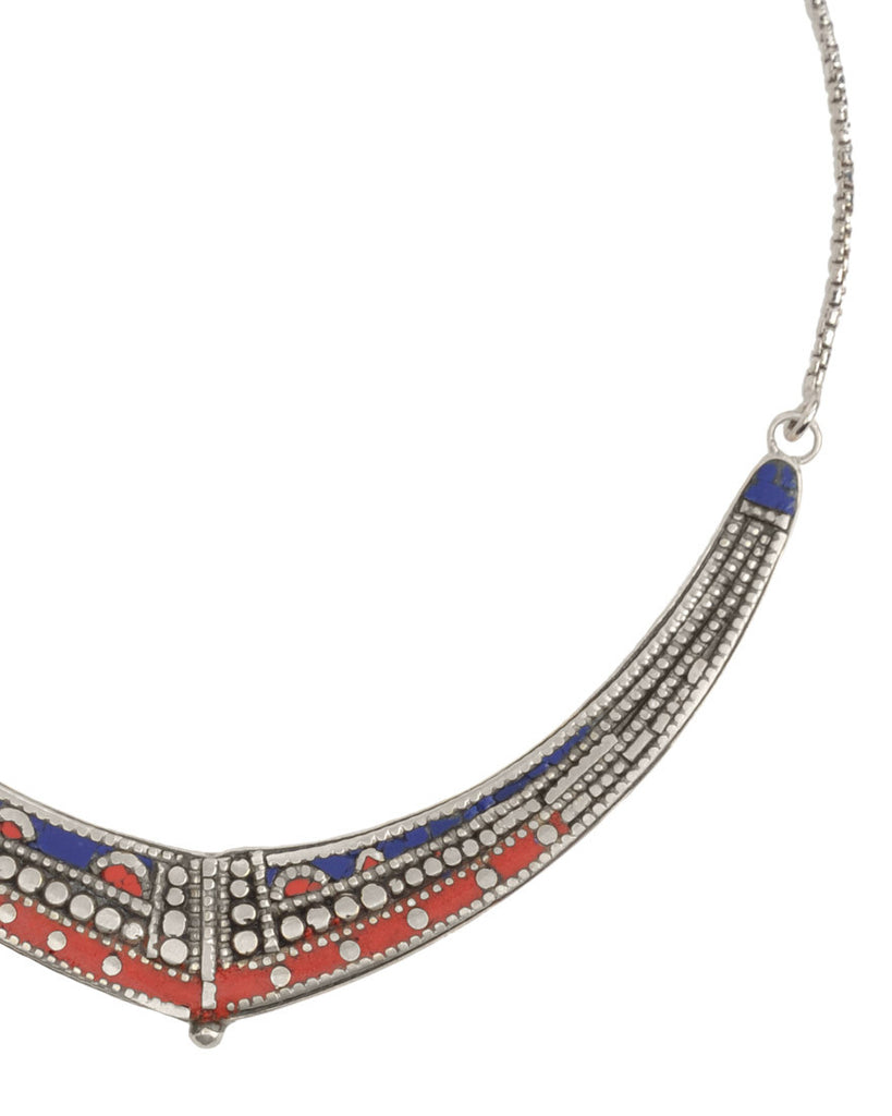 GOLD DUST NECKLACE | LAPIS + CORAL