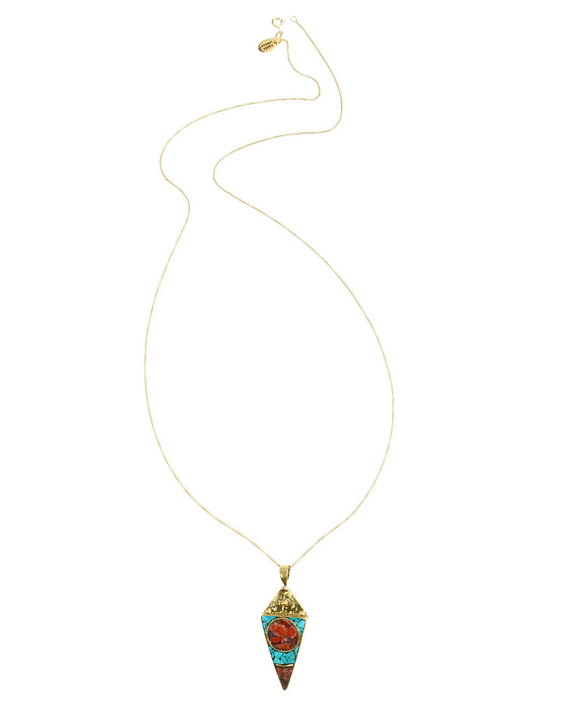 Gypsy Necklace | Coral + Turquoise