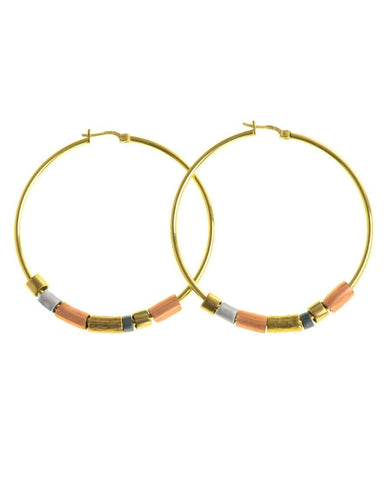 Summer Moon Earrings - Coral